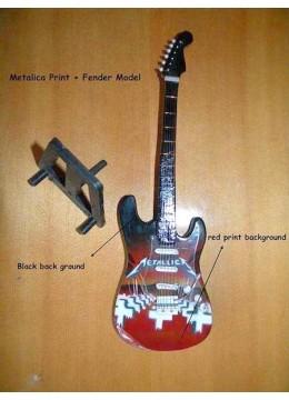 Miniature Guitar Metallica Type