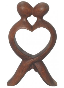Wood Carving Abstract Kiss