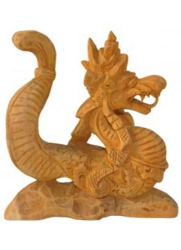 Wood Carving Dragon Decor