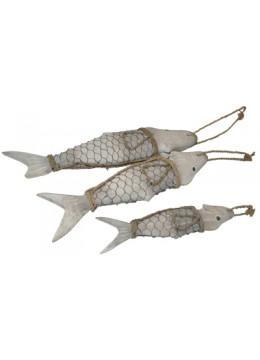 Fish metal set of 3