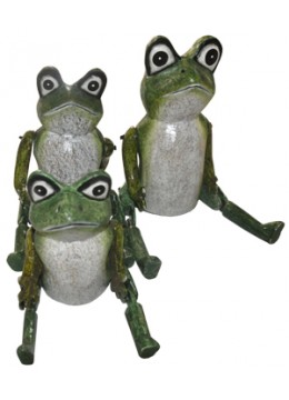 Frog Set of 3 Animal Statue