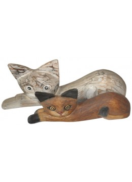 Cat Sleep set of 3 Cat Statue