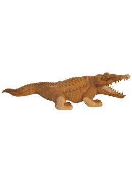 Wood Carving Crocodile Statue