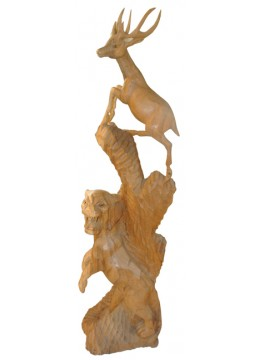 Wood Carving Animal Statue
