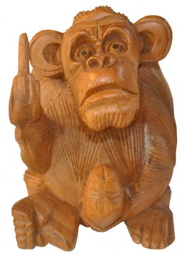 Wood Carving Monkey Statue