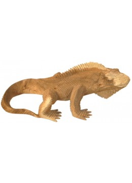 Wood Carving Iguana Statue