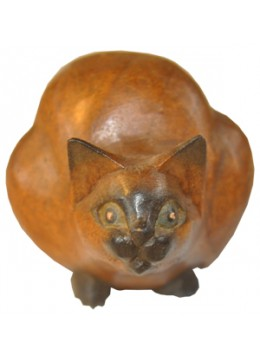 Wood Carving Cat
