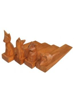 Wood Carving Animal Door Stop