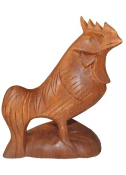Wood Carving Rooster Statue