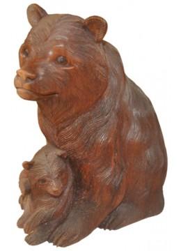 Wood Carving Bear Statue
