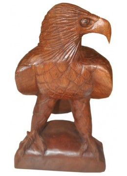 Wood Carving Eagle Statue