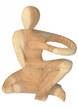 Wood Carving Abstract Statue