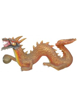 Wood Carving Dragon Statue