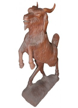 Wood Carving Sheep Statue