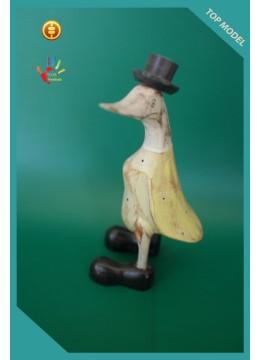 Top Model Bali White Washed Wood Ducks Interior Ornament
