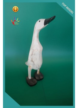 Manufacturer Wood Ducks White Washed Interior Ornament