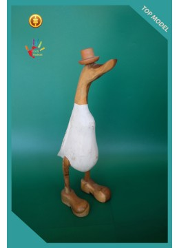 Top Quality Factory Price White Washed Wood Ducks Interior Ornament