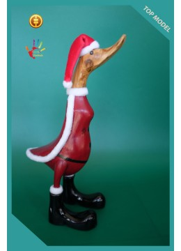Hand Carved Full Painted Customized Santa Clause Wood Duck
