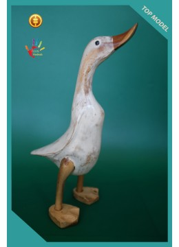 Bali Manufacturer White Washed Wood Duck