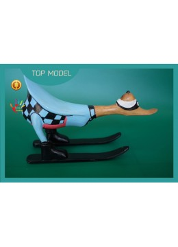 Best Selling Customized Full Painted Wood Duck Ski