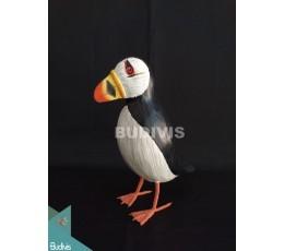 Figurine Realistic Miniature Wooden Birds Carving Hand Painted Garden Decor