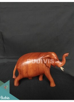 High Quality Wood Carved Simple Elephant Factory
