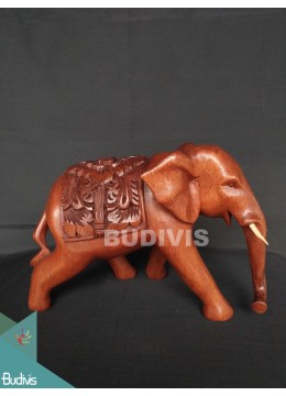 High Quality Wood Carved Thai Elephant Factory