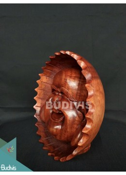 Top Sale Wood Carved Yogi Face Direct Artisans