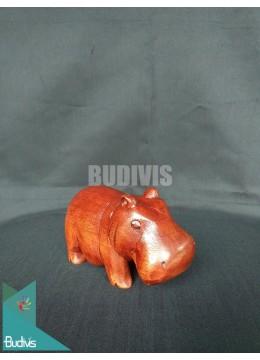 Top Sale Wood Carved Hippopotamus Direct Artisans