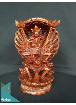 Indonesia Wood Carved Miniature Garuda Wisnu Kencana Gwk In Handmade