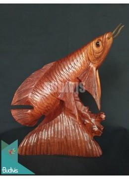 Top Model Wood Carved Arowana Fish From Bali