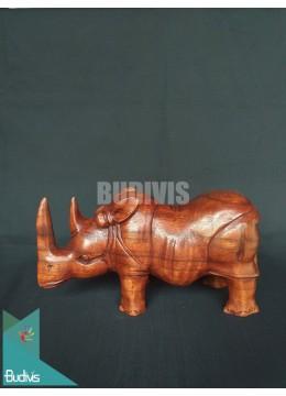 Bali Wholesale Wood Carved Rhino Production