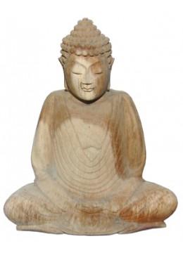 Wood Carving Buddha Statue