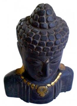 Antique Wood Buddha Head