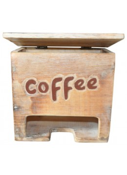 Painted Wood Coffee Box