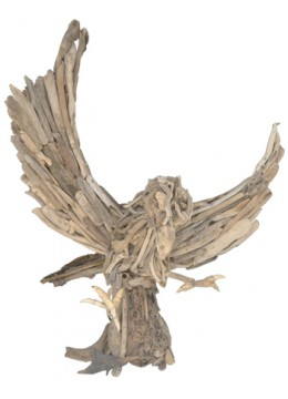 Eagle Decor Recycled Driftwood