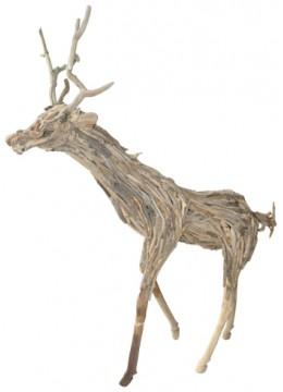 Deer Decor Recycled Driftwood