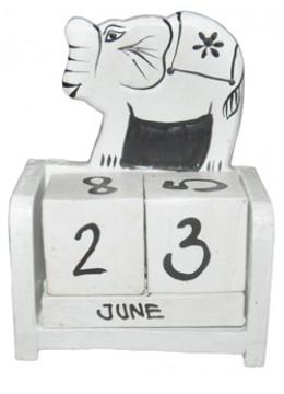 Box Calendar Elephant Decor