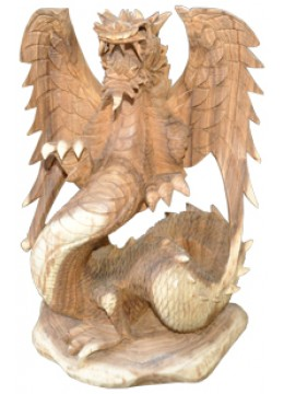 Wood Carving Dragon with wing