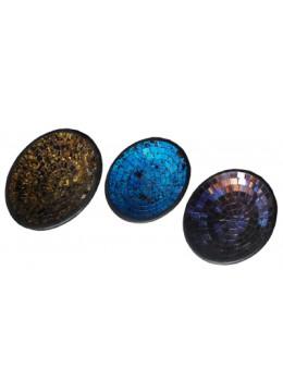 Mosaic set of 3 Round Ceramic