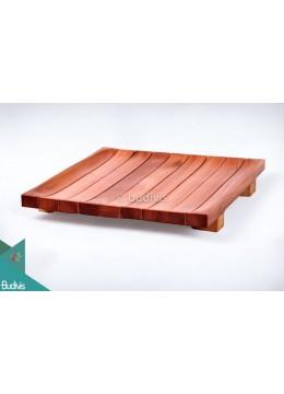 Wooden Plate Square List Medium
