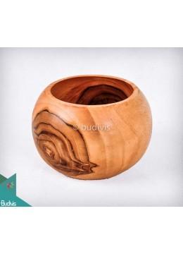 Wooden Bowl Soup Medium