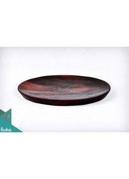Wooden Plate Round Small