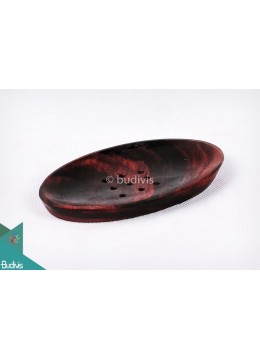 Wooden Incense Standing Place Oval Small