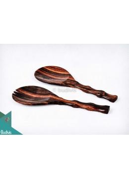 Wooden Rice And Soup Spoon Set 2 Pcs Medium