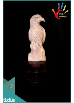 Top Hand Carved Bone Falcon Scenery Ornament Best Seller