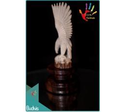 Cheap Hand Carved Bone Eagle Scenery Ornament Wholesale