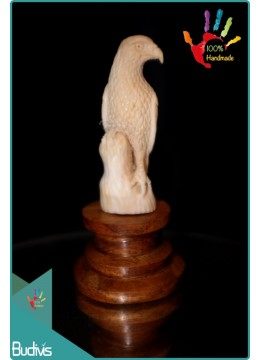 Best Seller Falcon Hand Carved Bone Scenery Ornament Top Selling