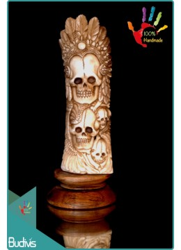 Top Selling Skull Hand Carved Bone Scenery Ornament Top Model