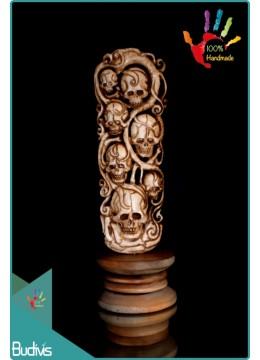 Cheap Skull Hand Carved Bone Scenery Ornament Wholesale